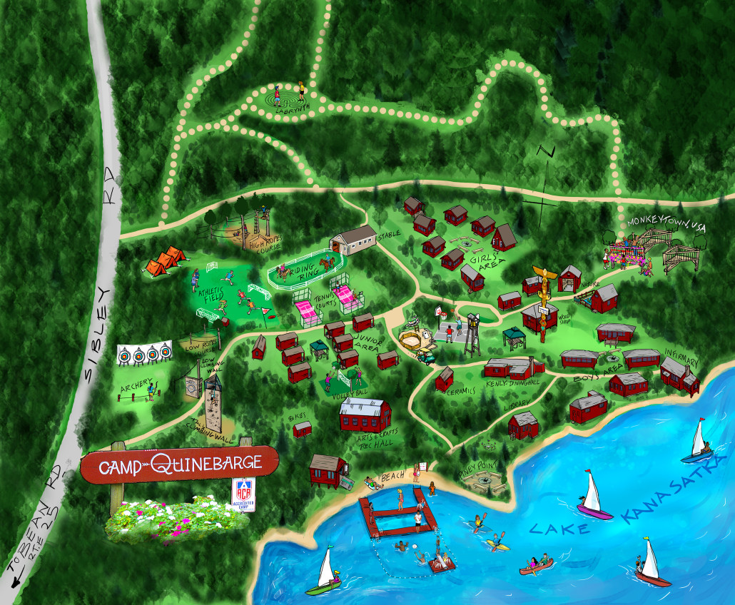 Camp Map Camp Quinebarge