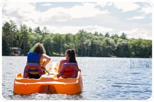 girls on paddleboat